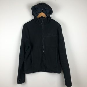 Bench Black Fleece Hooded Jacket - Size Medium